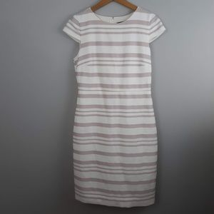 J. Crew Sheath Dress Striped Rear Zip Size 8